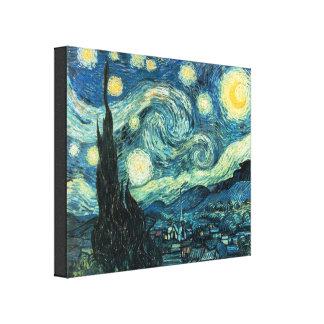 La noche estrellada Van Gogh envolvió la impresión Lona Envuelta Para Galerias