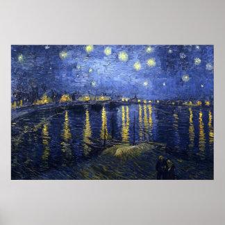 La noche estrellada (Van Gogh) Póster