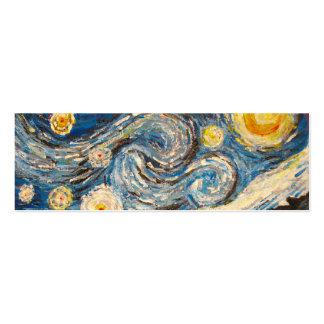 La noche estrellada Van Gogh repinta la tarjeta de Tarjetas De Visita Mini