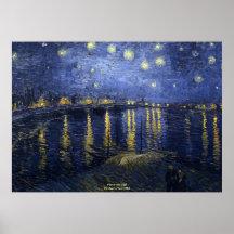 La noche estrellada Vincent van Gogh 1888 Poster
