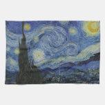 La noche estrellada Vincent van Gogh 1889 Toalla De Cocina
