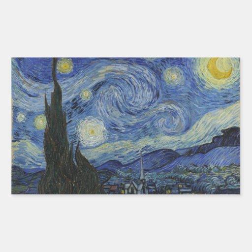 La noche estrellada Vincent van Gogh 1889 Rectangular Altavoz