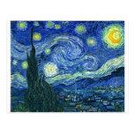 La noche estrellada - Vincent van Gogh (1889) Postales