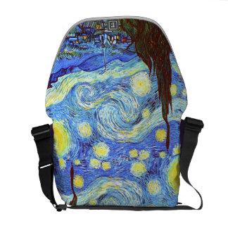 La noche estrellada Vincent van Gogh Bolsas De Mensajeria
