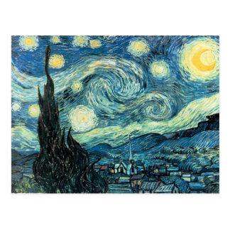 La noche estrellada - Vincent van Gogh Postal