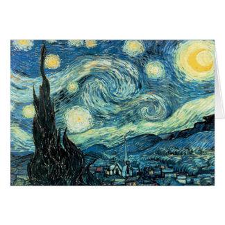 La noche estrellada - Vincent van Gogh Tarjeta De Felicitación