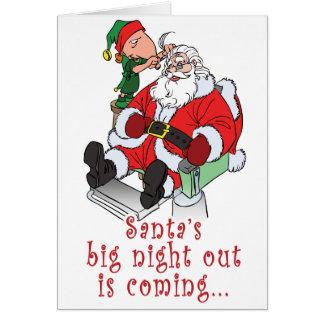 La noche grande de Santa hacia fuera Tarjeta De Felicitación