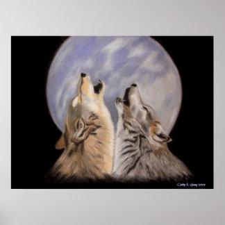 La noche grita (los lobos) poster