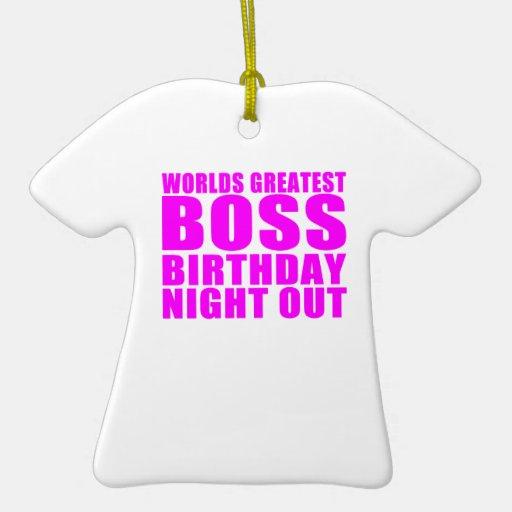 La noche más grande del cumpleaños de Boss de los  Ornamentos Para Reyes Magos