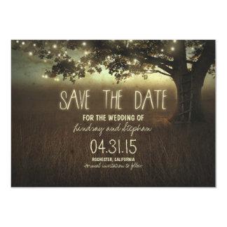 la noche romántica enciende reserva rústica las invitación 11,4 x 15,8 cm