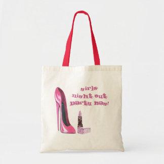 La noche rosada de los chicas del estilete y del l bolsa tela barata