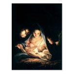 La noche santa (la natividad) postal