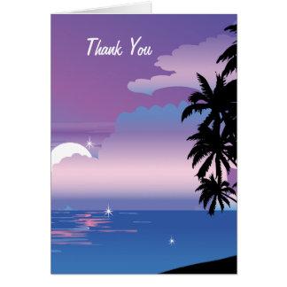 La noche tropical le agradece invitación de boda tarjeta de felicitación