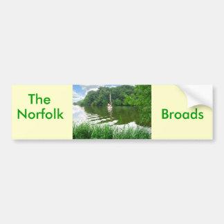 La Norfolk Broads Etiqueta De Parachoque