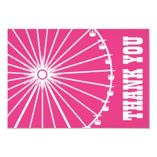 La noria le agradece cardar (rosado oscuro/el anuncio