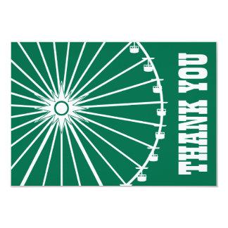 La noria le agradece cardar (verde/el blanco) invitación personalizada