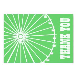La noria le agradece cardar (verde lima/el blanco) invitaciones personales