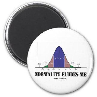 La normalidad me elude (el humor de la curva de imán redondo 5 cm
