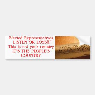 la nosotros--gente, elegida los representantes ESC Pegatina Para Auto