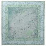 La nota azul de la música del trullo del vintage f servilletas de papel