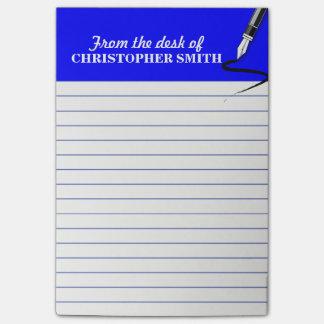 La nota AZUL del Poste-it® del organizador de la Notas Post-it®