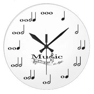 La nota de la música con música es el decir de la  relojes