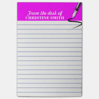 La nota del Poste-it® del rosa del organizador de Post-it® Notas