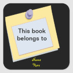 La nota pegajosa este libro pertenece a, pegatina