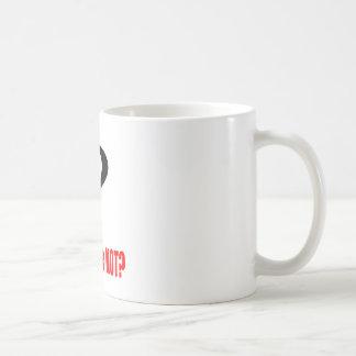 la nota roja de la posibilidad asustada de la taza de café