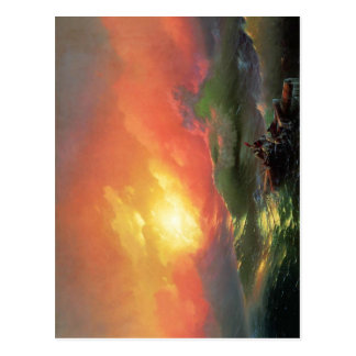 La novena onda (1850), por Ivan Aivazovsky. Aceite Postal