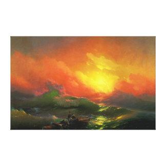 La novena onda lienzo envuelto para galerías