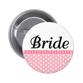 La novia abotona favores pin redondo 5 cm