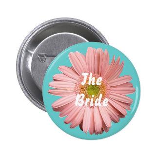 La novia, botón rosado del gerbera pin
