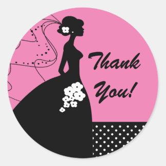 La novia de la silueta le agradece pegatina