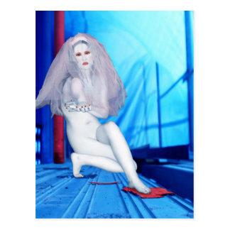 La novia del cambio - autorretrato postal