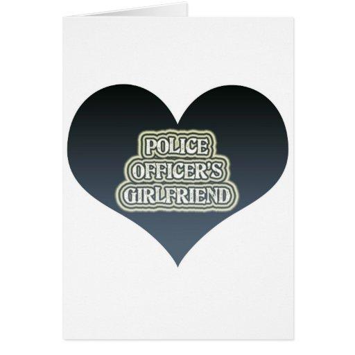 La novia del oficial de policía tarjeta