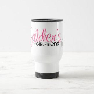 La novia del soldado (rosa) taza de viaje de acero inoxidable