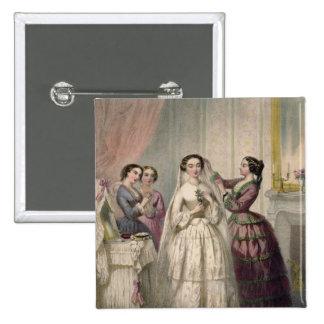 La novia, grabada por J. Battannier, 1852-53 Pin Cuadrada 5 Cm