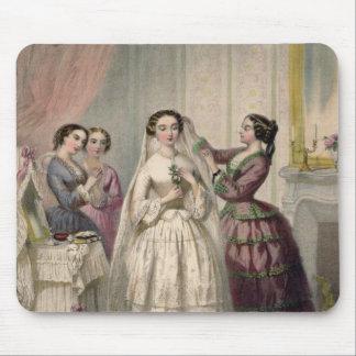 La novia, grabada por J. Battannier, 1852-53 Tapete De Ratones