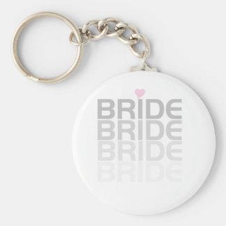 La novia gris se descolora llavero redondo tipo pin