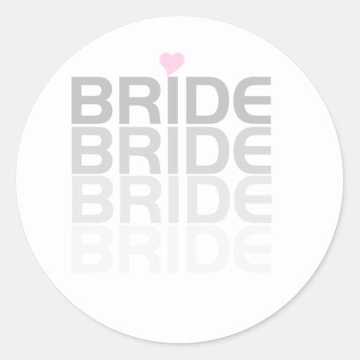 La novia gris se descolora pegatina redonda