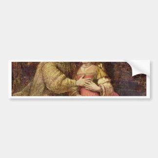 La novia judía (el par) por Rembrandt Van Rij Pegatina Para Auto