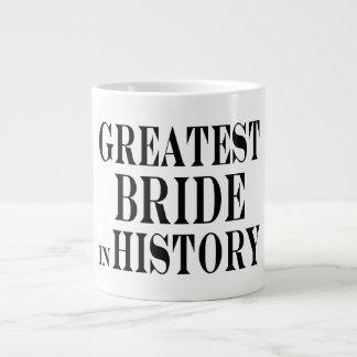 La novia más grande de las mejores novias en histo taza extra grande