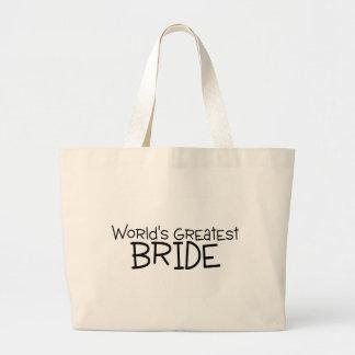 La novia más grande de los mundos bolsa tela grande