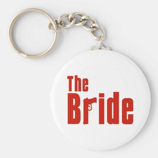 La novia (rojo de la mafia) llaveros personalizados
