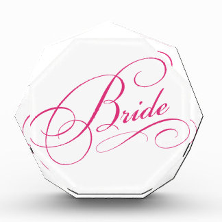 La NOVIA rosada a ser cursive elegante personalizó