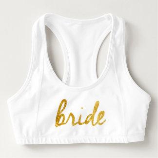 ¡La novia se divierte el sujetador! Bra Deportivo