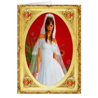 La novia tarjeta de felicitación
