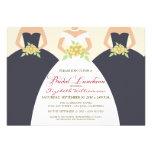 La novia y el alumerzo nupcial de las damas de hon invitaciones personalizada