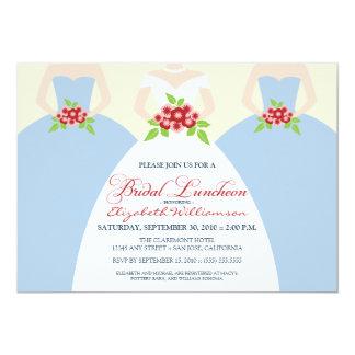 La novia y el alumerzo nupcial de las damas de invitación 12,7 x 17,8 cm